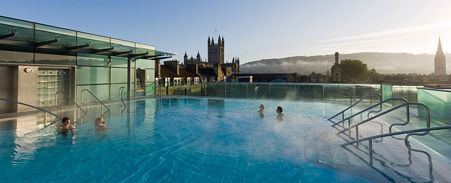 Bath Hotel With Pool On Roof