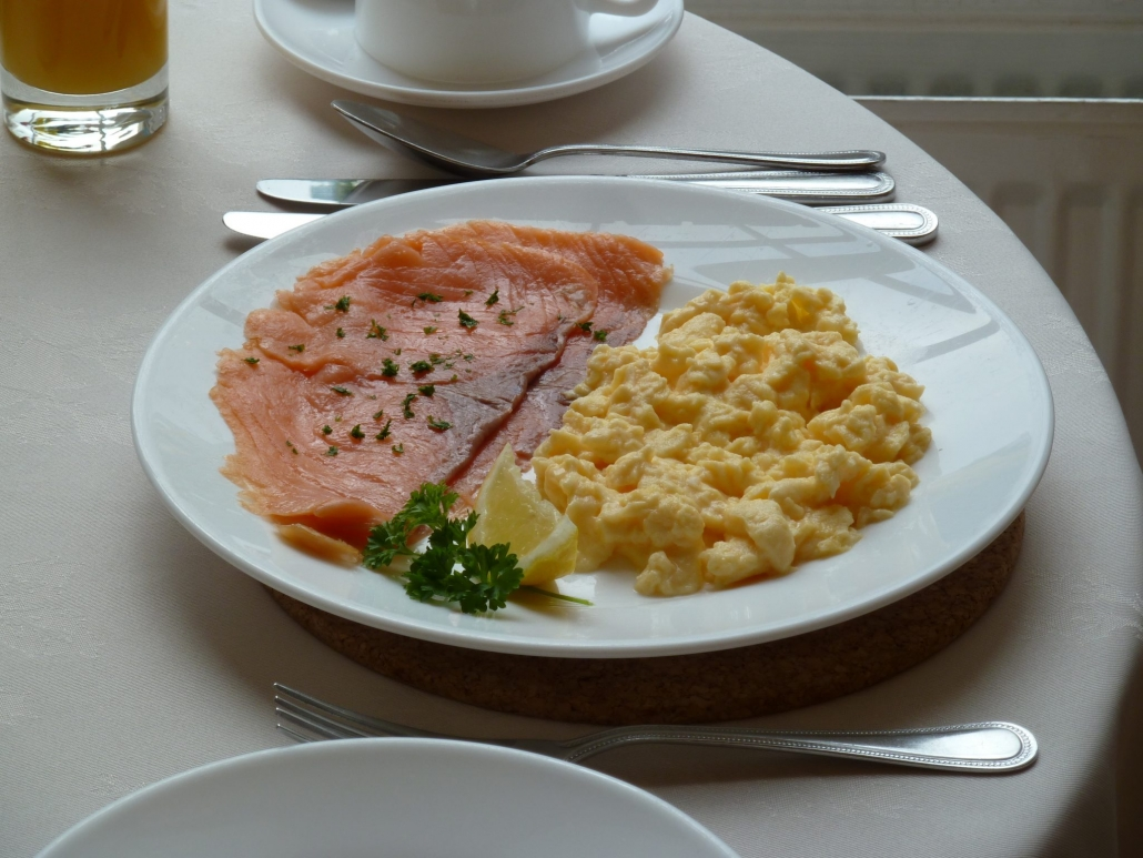 salmon and eggs at the Edgar Townhouse in Bath
