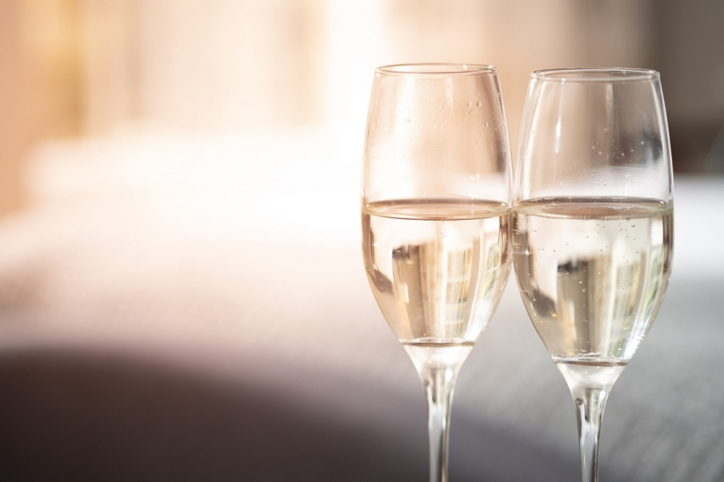Glasses of Fizz at the Edgar Townhouse in Bath