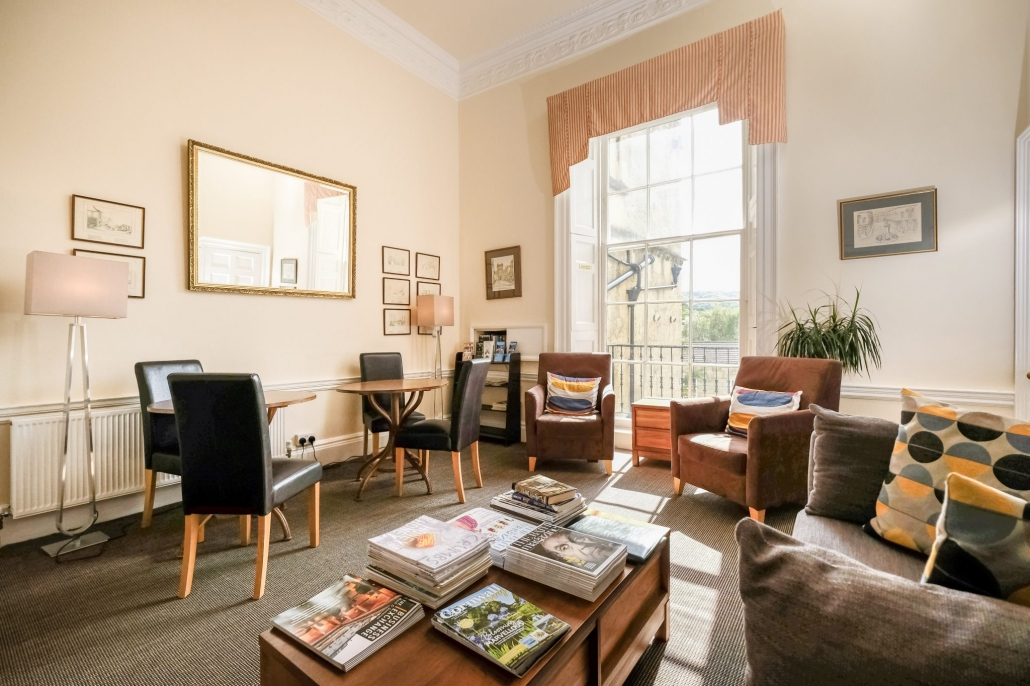 the lounge at the Edgar Townhouse in Bath
