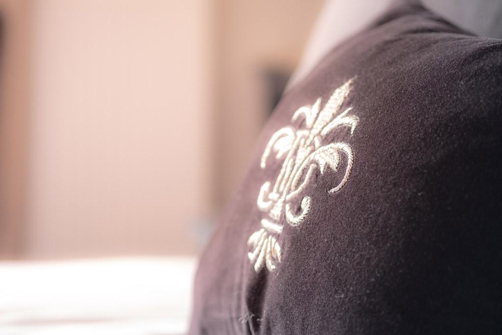 a cushion at the Edgar Townhouse in Bath
