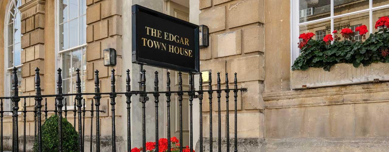The Edgar Townhouse Bath exterior sign